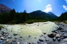 Fluss beim Morteratschgletscher