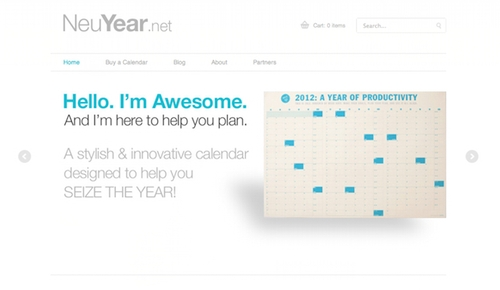 Nue Year Ecommerce Site, Powered by Shopify