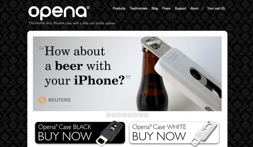 Opena iPhone Case Ecommerce Site, Powered by Shopify