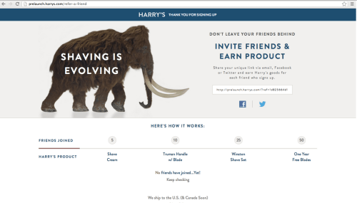 Harry's Prelaunch Microsite