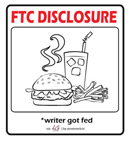 FTC Disclosure: Writer got fed.