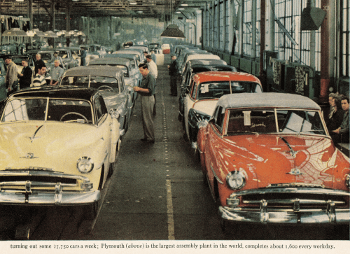 1951_Plymouth_Assembly_Line___Little_did_we_realize_in_1951_…___Flickr_-_Photo_Sharing_