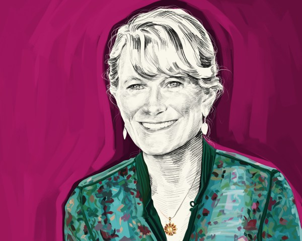 Artist's rendering of Jacqueline Novogratz
