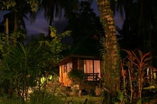 Unsere Hütte im Mondschein