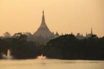 Die Shwedagon Pagode ist überall