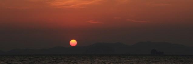 Letzter Krabi Sonnenuntergang
