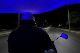Coco Taxi macht blau