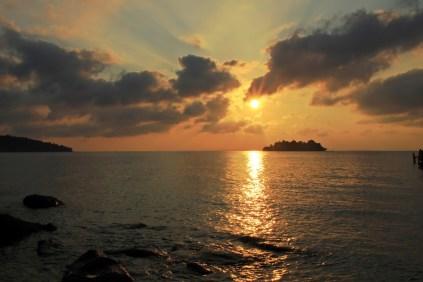 Sonnenaufgang am Long Set Beach