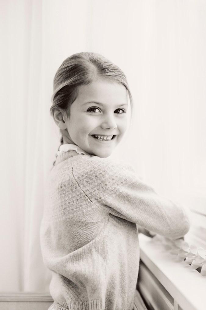 Fredagen den 23 februari 2018. Prinsessan Estelle fyller sex år. / Friday 23 February 2018. Princess Estelle's sixth birthday. Not for marketing purposes.