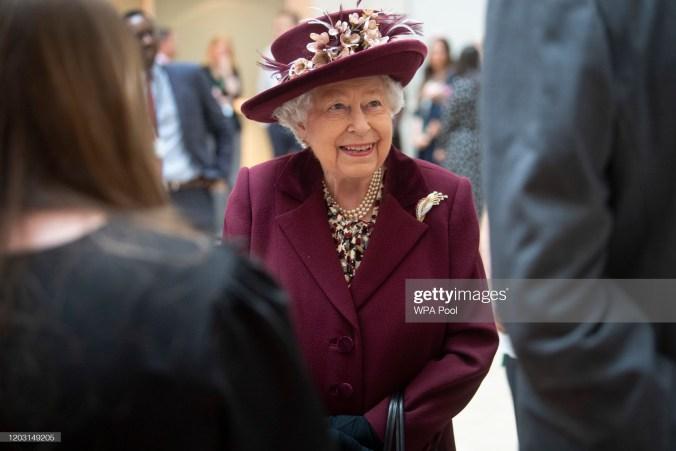 Kuningatar Elisabet vuonna 2020.