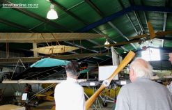 The Pearse replica aeroplane, with Wright Brothers replica above.