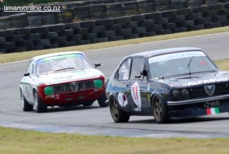 (11) Kirk Ransley, from Nelson, in his 1970 Alfa Romeo Sud, 1700 cc