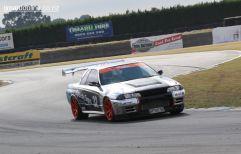 Adam Cullen, from Dunedin, in his Nissan Skyline GTR