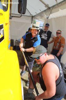 Working on Troy Wheeler's Super Truck