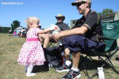 Ruby May Dougherty with dad Jason and granddad Wayne