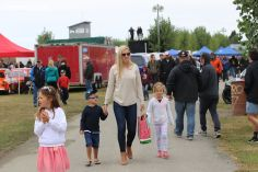 Alicia Cunningham and her kids explore pit lane