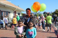 Sherry Stewart, with Kayla (7) and Keira (6)