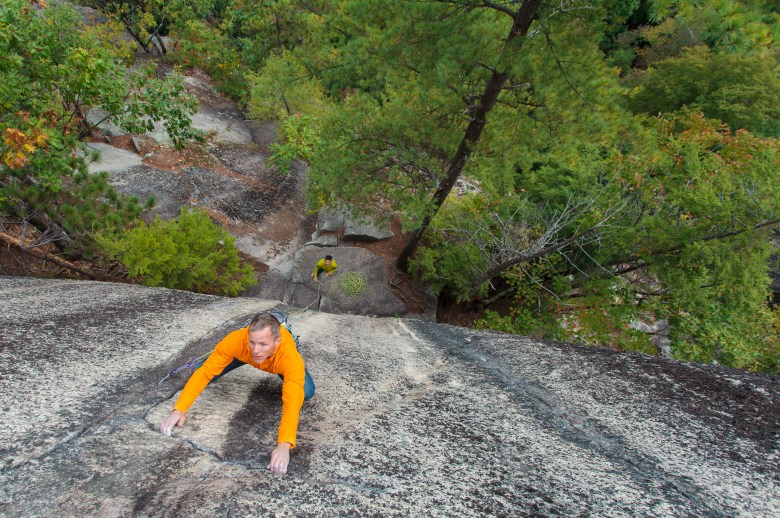 Bryan Gilmore Climbing Aeration on Cathedral Ledge - North Conway (11 of 11)