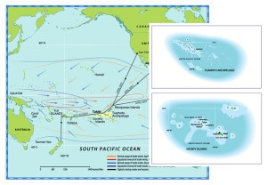 0511.South Pacific Ocean Map