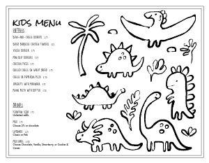 Kids' Menu, Kid Menu Designs, Kid Menu Templates