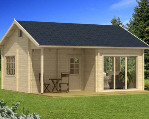Large Wooden Summer House Leeds 30m² / 70mm / 6,5 x 5,5 m