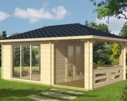 Garden Summer House with Veranda Anette 12m² / 50mm / 3,8 x 5,8 m