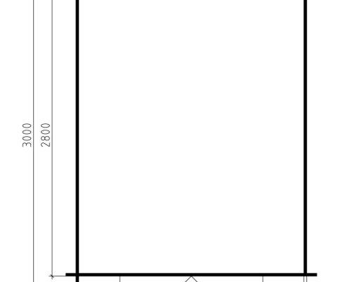 10x8 Storage Shed Andy L 6,2m² / 28mm / 3 x 2,5 m