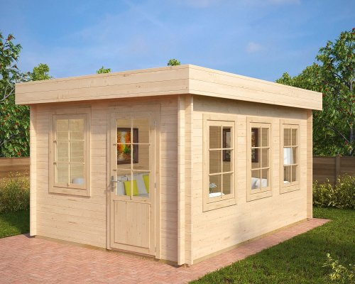 Garden Office Shed Jacob C 12m² / 40mm / 4,4 x 3,2 m