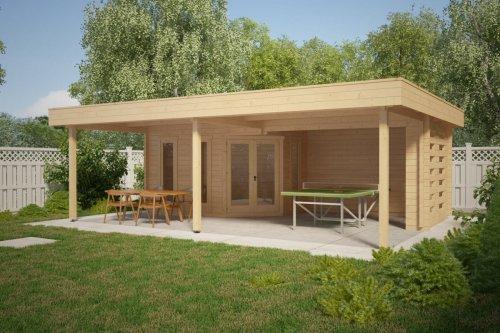 Large Garden Shelter Garden Paradise B 10m2 / 50mm / 8 x 6 m