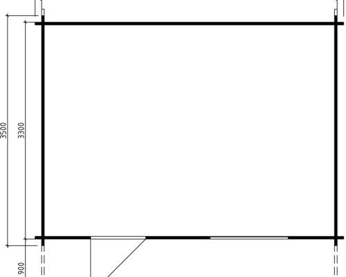 Garden Log Cabin Weekend 14m² / 40mm / 4,7 x 3,5 m