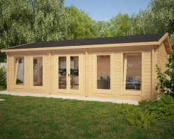 Large Garden Room D 38m² / 70mm / 5 x 8 m
