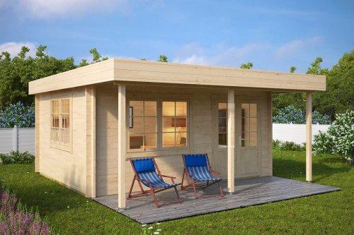Garden Summer House with Canopy Ian C 18m² / 50mm / 5 x 4,1 m