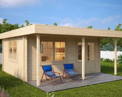 Garden Summer House with Canopy Ian C 18m² / 50mm / 5 x 4,1 m