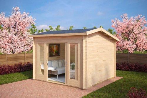 Modern Log Cabin Nora E 9m² / 44mm / 3 x 3 m