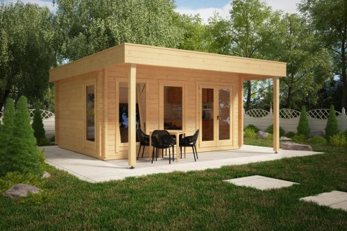 Large Garden Room with Canopy Ian E 18m² / 50mm / 5 x 4,1 m