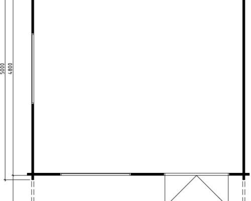 Large Garden Summer House Carl 22m² / 70mm / 5 x 5 m