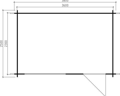Garden Log Cabin Lena S 8m² / 28mm / 3,8 x 2,5 m