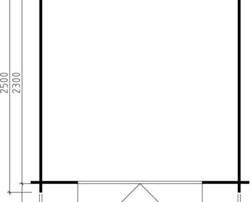 Garden Room Lily M 5m² / 28mm / 2,5 x 2,5 m