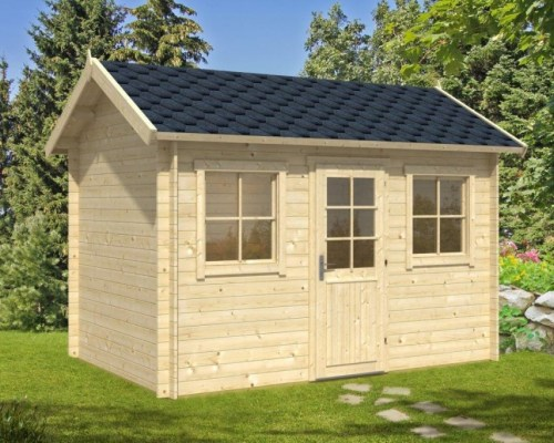 Garden Log Cabin Lisa S 8m² / 44mm / 3,8 x 2,5 m / HG 16048