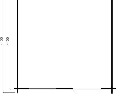 Garden Log Cabin Monica XL 7,5m² / 28mm / 3 x 3 m