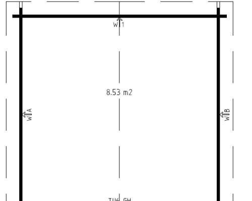 10x10 Shed Lucas A 8,5m² / 40mm / 3,2 x 3,2 m