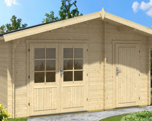 Garden Summer House with Shed Otto 10,5m² / 28mm / 4,1 x 3 m