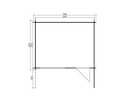 Timber Garden Room Rita L 10m² / 28mm / 3,8 x 3 m