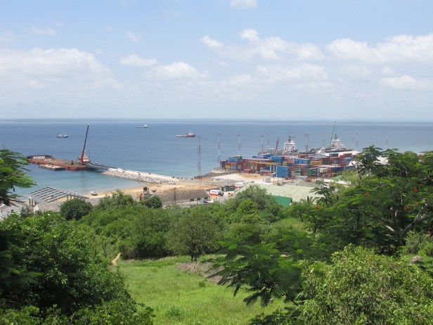 The Port of Pemba in Mozambique where 76 containers of timber were illegally exported to China.