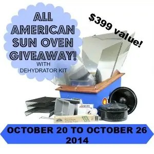 Sun Oven Giveaway
