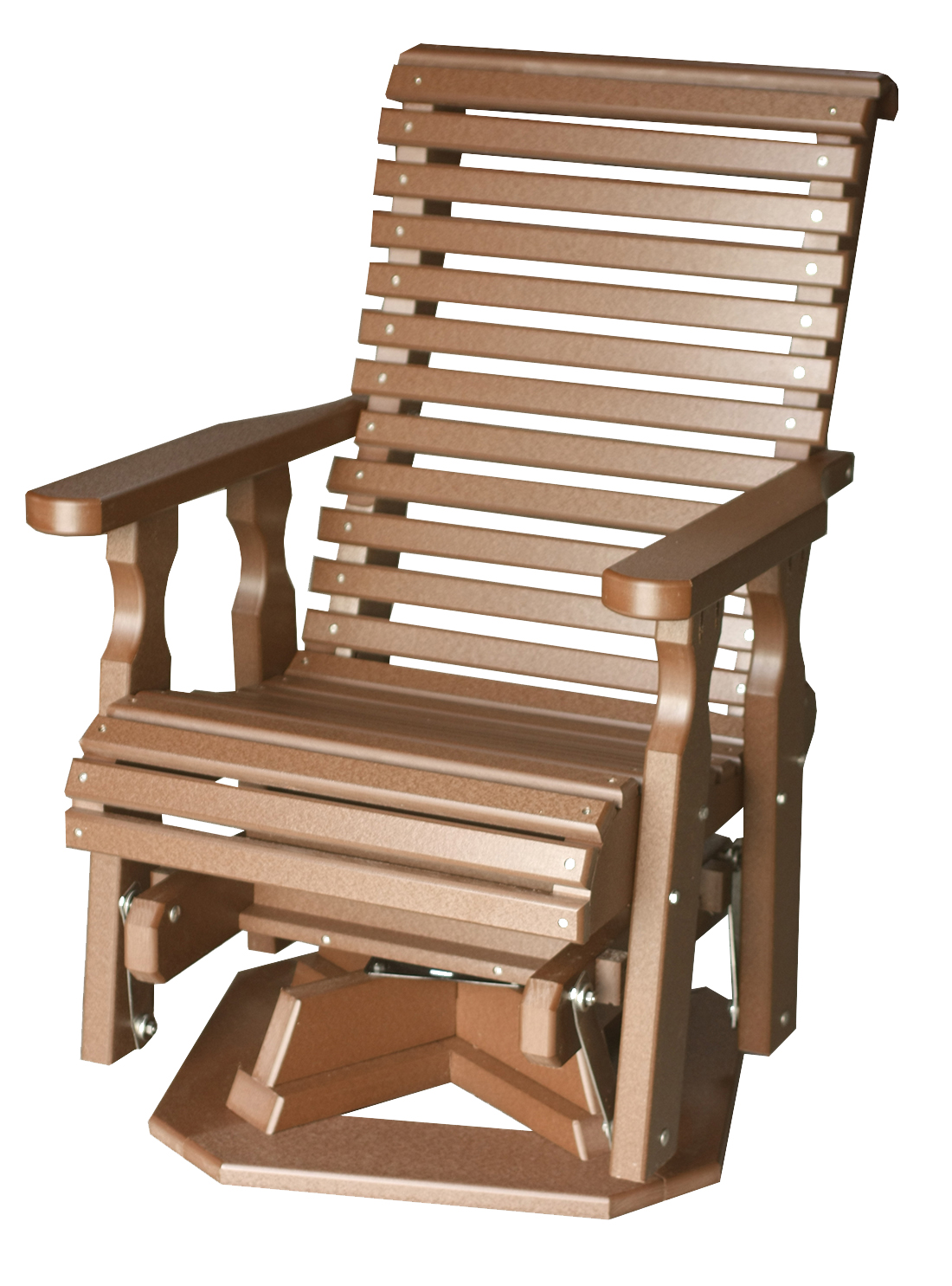 Wood Glider Chair Rollback Poly Wood Glider Chair With Swivel Option