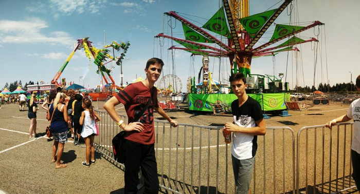Igor and Alex at the Clark County Fair - Summer 2014