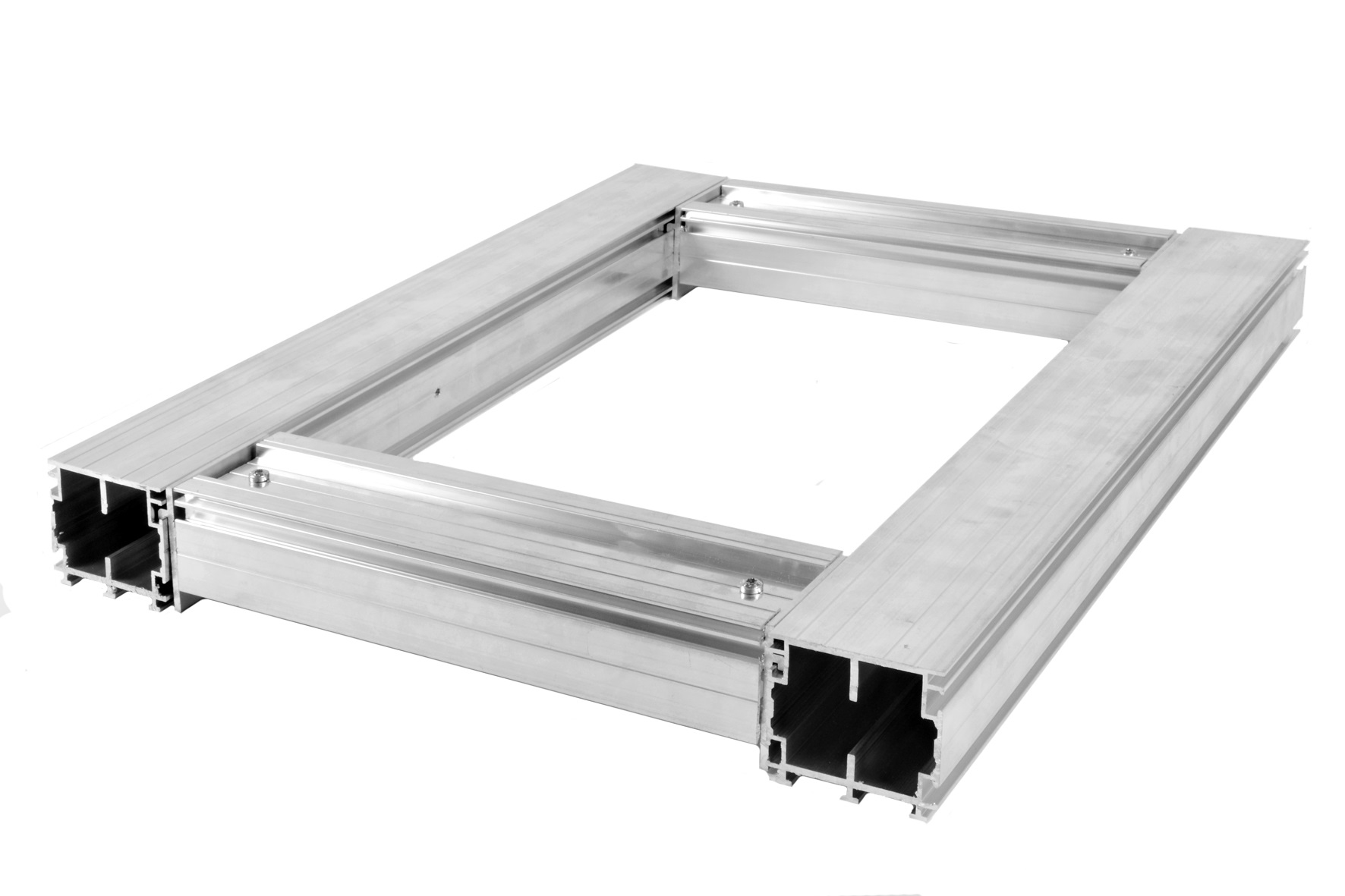 60mm x 55mm x 4000mm Aluminium Joists for decking and paving stones ...