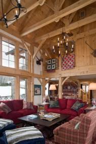 Custom Eastern White Pine Timber Frame Home in Windham, NY