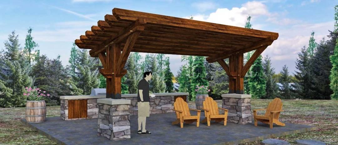 20'x10' Timber Frame Pergola Kit